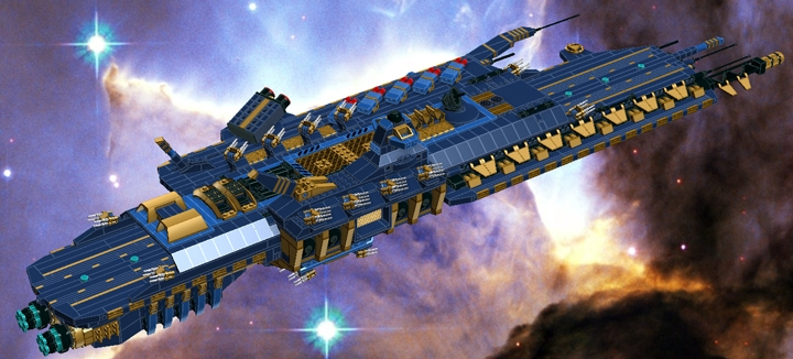 LEGO MOC - In a galaxy far, far away... - Heavy carrier 'M'an-Sertal'