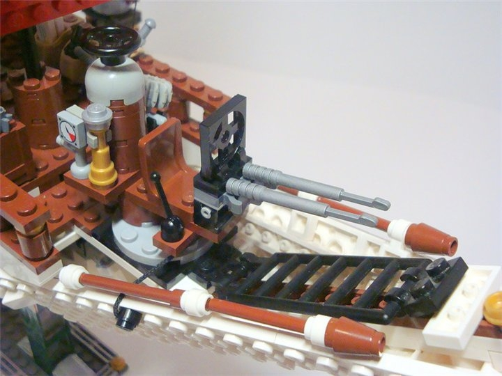 LEGO MOC - Steampunk Machine - Steampunk styled 'Scarlet Sails': Место стрелка