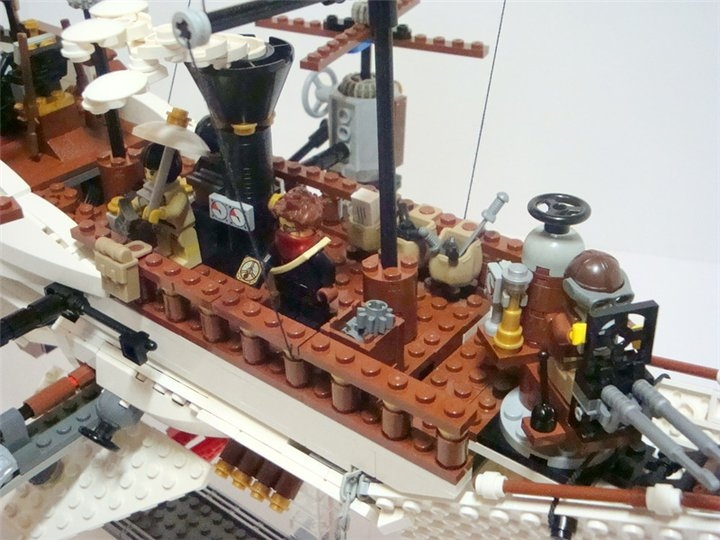 LEGO MOC - Steampunk Machine - Steampunk styled 'Scarlet Sails': Без парусов, для лучшего обзора.