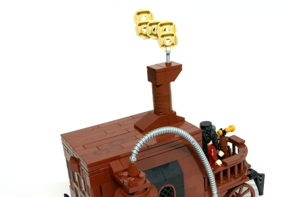 LEGO MOC - Steampunk Machine - Self-propelled carriage: Крыша гладенькая)