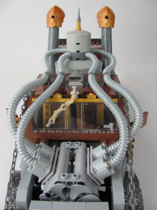 LEGO MOC - Steampunk Machine - 王者之劍: <br><i>- System of steam-cylinders are FIRST TIME-made in one case!</i><br>