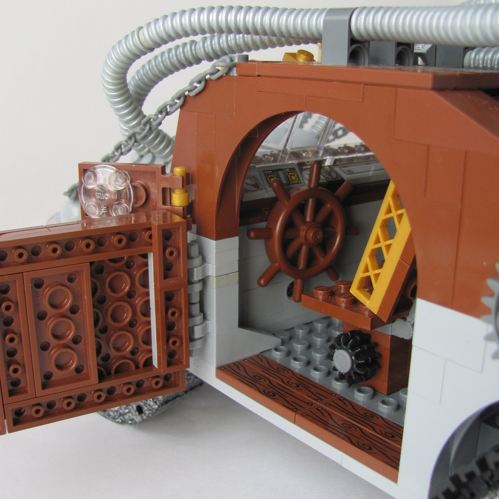 LEGO MOC - Steampunk Machine - 王者之劍: <br><i>- Steering-wheel provides precious steering control.</i><br>