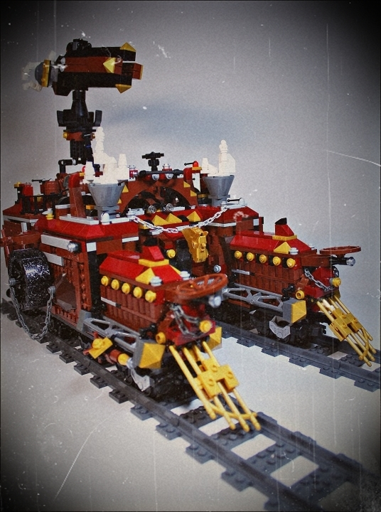LEGO MOC - Steampunk Machine - Royal armoured train of Blackferrum's army