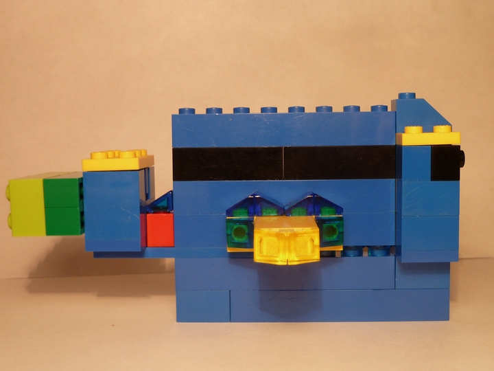 LEGO MOC - 16x16: Animals - Blue Fish