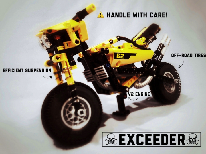 LEGO MOC - Mini-contest 'Lego Technic Motorcycles' - Exceeder: Handle with care!
