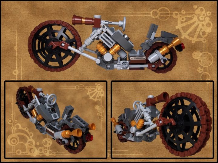 LEGO MOC - Mini-contest 'Lego Technic Motorcycles' - Steam Choppa