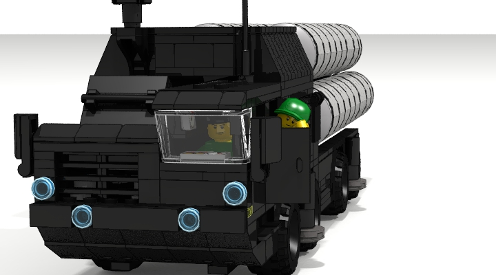 LEGO MOC - LDD-contest '20th-century military equipment‎' - Air Defense Missile Systems S-300PS: Новая ЗРС в течение не более 5 минут приводилась в походное положение или развертывалась на новой позиции с марша.