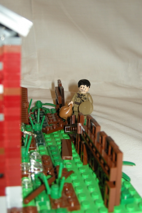 LEGO MOC - Joy and Sadness of Great Victory - 'Враги взорвали дом родной'