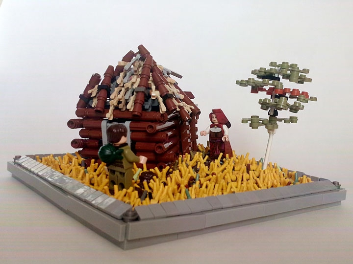 LEGO MOC - Joy and Sadness of Great Victory - 'Вот мой дом родной...'