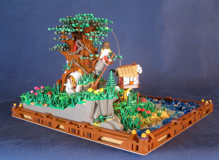 LEGO MOC - Russian Tales' Wonders - A green oak-tree by the lukomorye