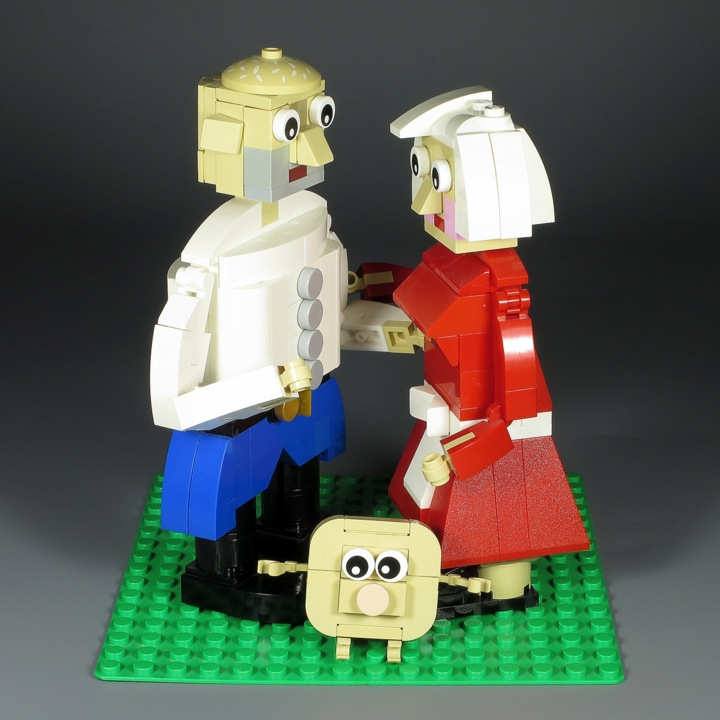 LEGO MOC - 16x16: Chibi - Babushka, Dedushka & Kolobok: </i>Happy End!<br><i><br />