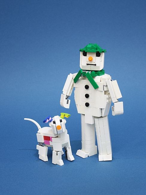LEGO MOC - New Year's Brick 2020 - The snowman and the snowdog.: А вот и сама постройка.