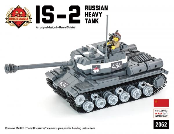 Bricker - ? ? ? ?.? ? Brickmania 2062 IS-2 Russian Heavy Tank - Premium Black Box Edition Kit